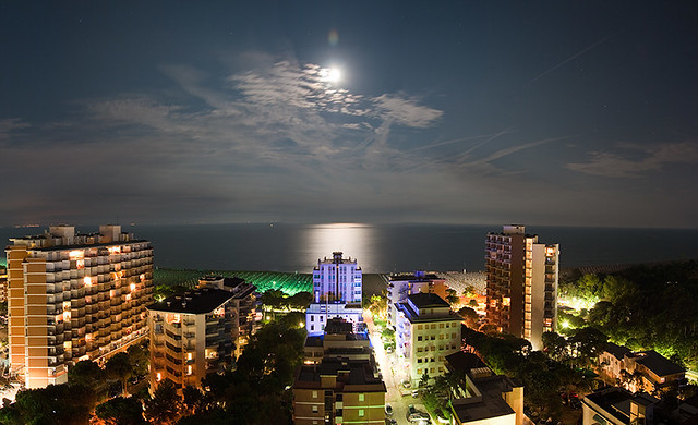 Lignano in moonlight