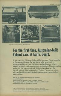 1966 Chrysler VC Valiant ad (UK) pg 1