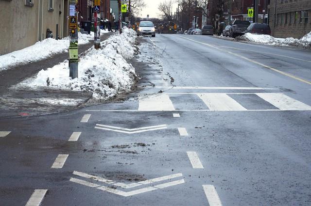 Fri, 02/04/2011 - 14:40 - Manning &amp; Harbord<br /> Bike Lane Clean-up