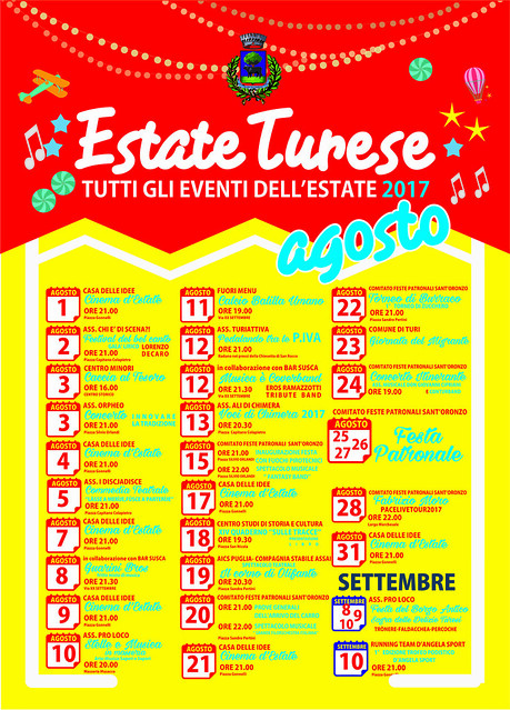 estate turese AGOSTO 2017