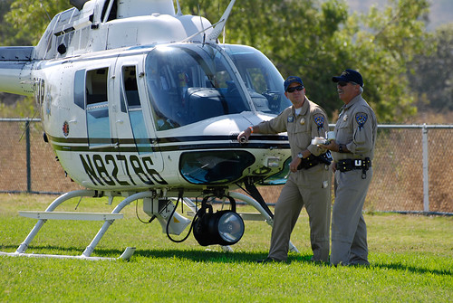CHP Helicopter and Pilots
