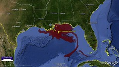 Deepwater Horizon Oil Spill - Cumulative Oil Slick Footprint, April 25 - July 16, 2010