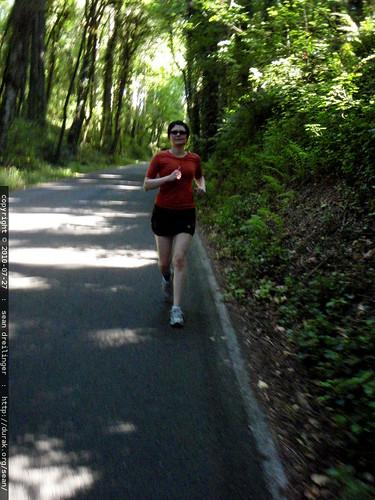 rachel running downhill   P7270030