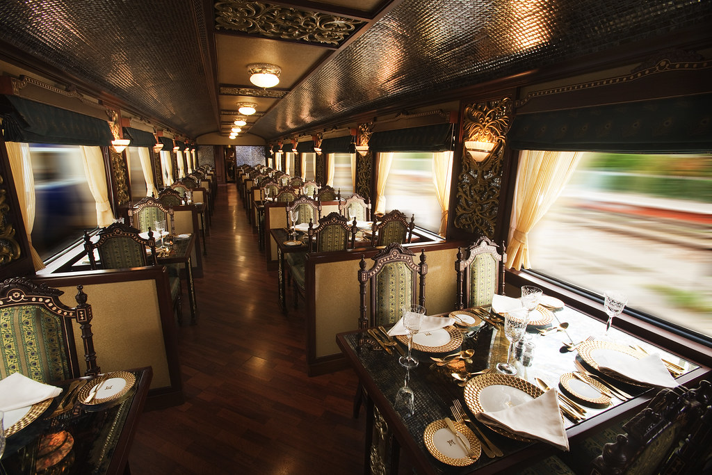 Restaurant Car of Indian Luxury Train