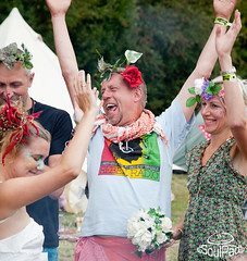 Alternative Wedding at a Festival