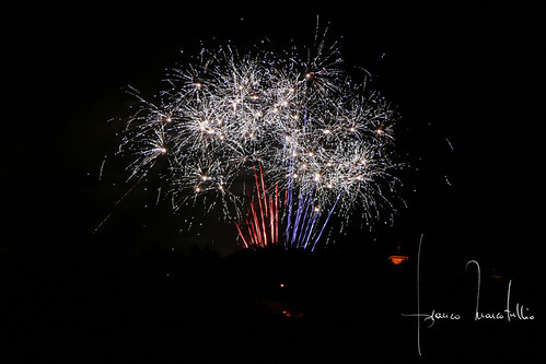 Fireworks in Civitaquana - Italy