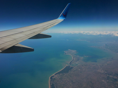 France. Aerial of Ile de Noirmoutier. Flying with ArkeFly.