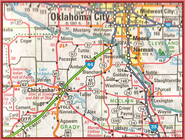 Chickasha Oklahoma Map