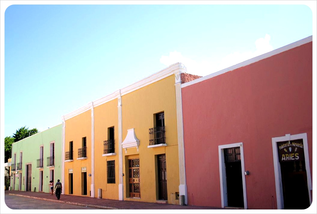 Pastel-colored houses Valladolid