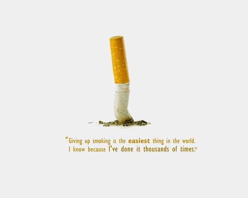 Quit smoking cold turkey