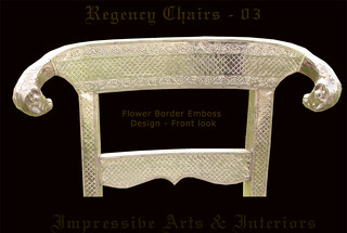 Silver Emboss Regency Chair with Ram Heads