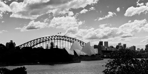 opera house and bridge