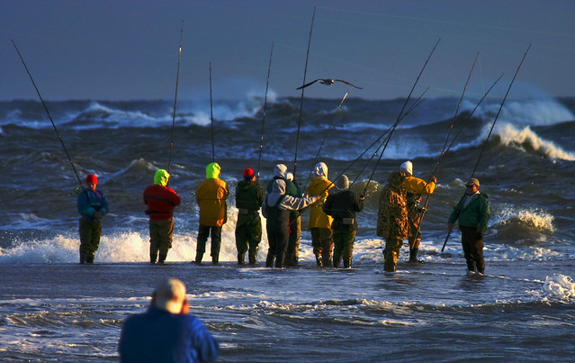Surf Fishing At The Point Obx Flickr Photo Sharing