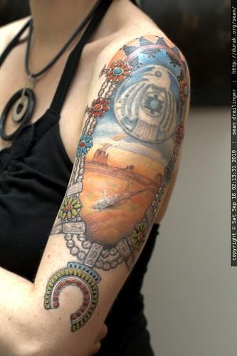 final phase of rachel's navajo themed tattoo