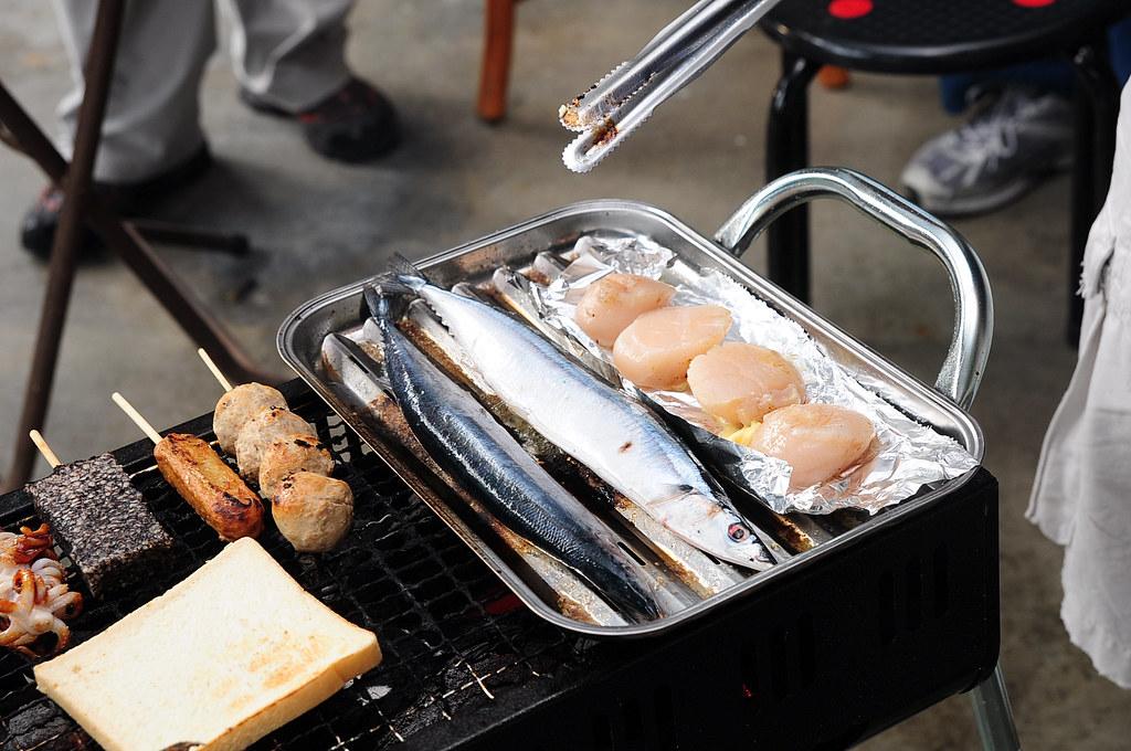 颱風前夕彰化埔心烤肉-Costco干貝