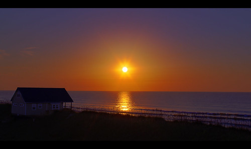 morning sea sun beach sunrise dawn carolina topsail obx