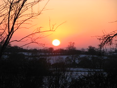 Sunset over East Hill