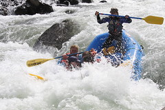 kayak(0.0), canoe slalom(0.0), kayaking(0.0), whitewater kayaking(0.0), canoeing(0.0), vehicle(1.0), sports(1.0), rapid(1.0), recreation(1.0), outdoor recreation(1.0), boating(1.0), extreme sport(1.0), water sport(1.0), boat(1.0), rafting(1.0),