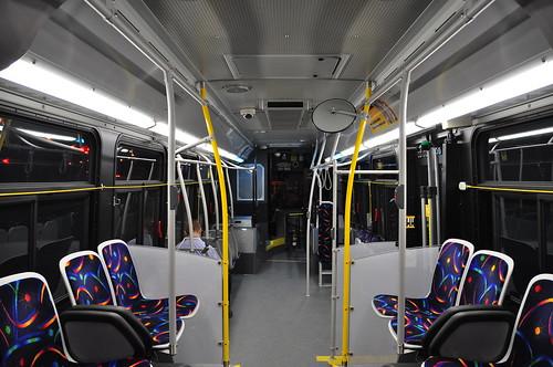 Intérieur d'un autobus Nova LFS (STM)