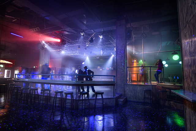 Strip club dance floor