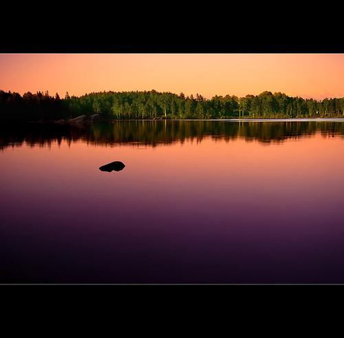 lake reflection landscape still calm tones lerum härskogen