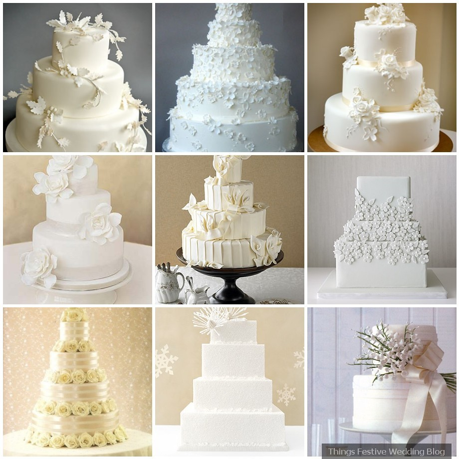 All white wedding cakes simple elegance things festive for All white wedding theme pictures