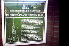 Photo of St. Hilda's Parish Church, Middlesbrough and J & B Green green plaque