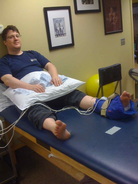 Feeling quite odd during electro stim therapy. What a fat git I am!