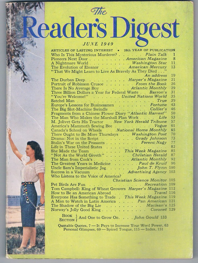 Readers Digest: June, 1949