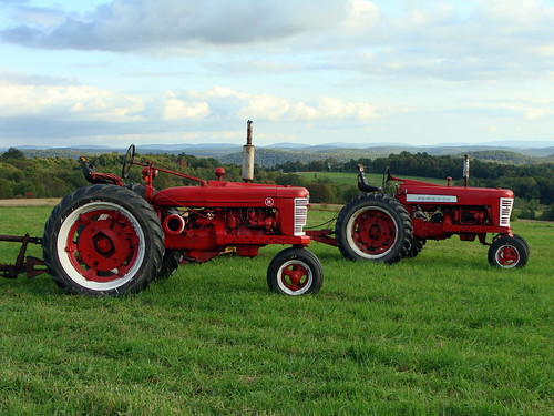 40th Anniversary Photo Contest Winner AGRICULTURE. Old Red Tractors by Barbara Grace