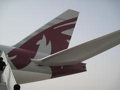 Qatar Airways Boeing 777-300ER, DOH to BKK