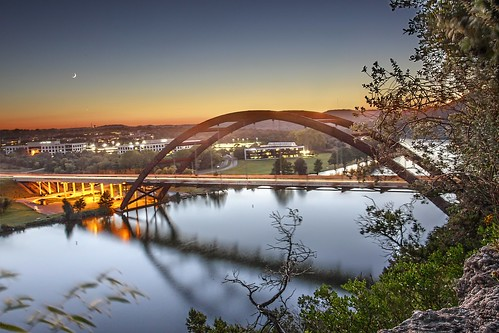 bridge sunset cliff lake austin side 360 east