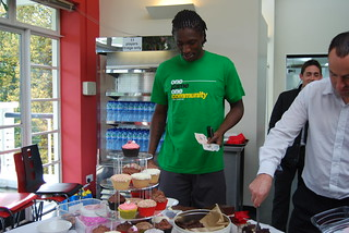 Dickson Etuhu at Fulham coffee morning