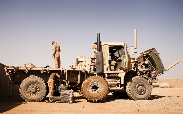Motor t marines assess vehicle damage flickr photo for Marine corps motor t