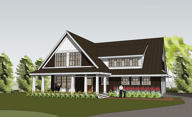 Front left perspective flickr photo sharing Simply elegant house plans