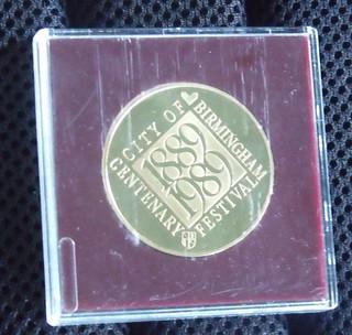 City of Birmingham Centenary Official Souvenir Medallion 1889 - 1989