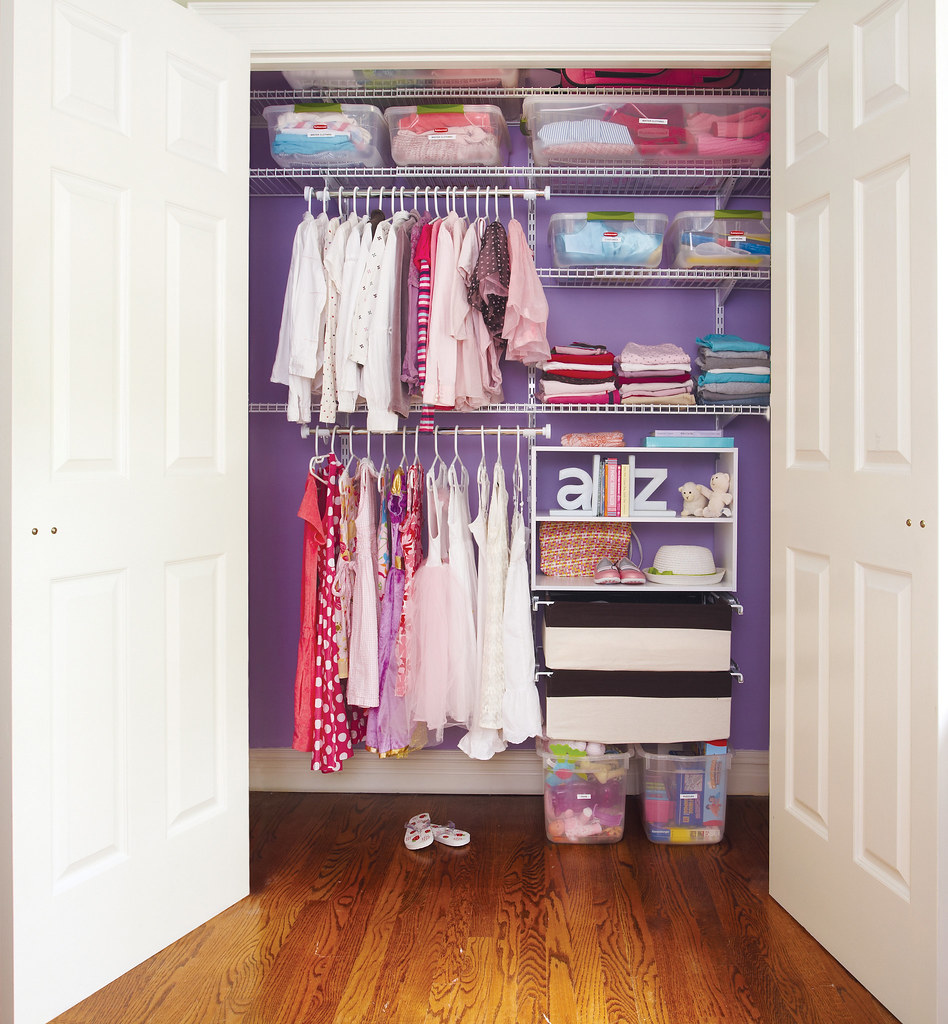 Rubbermaid HomeFree series closet system - a photo on ...