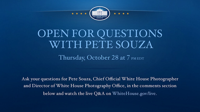 Open for Questions with Pete Souza