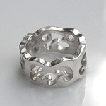 Wood Stock Ring by emcfarlane, 3D in Printed Silver by Shapeways