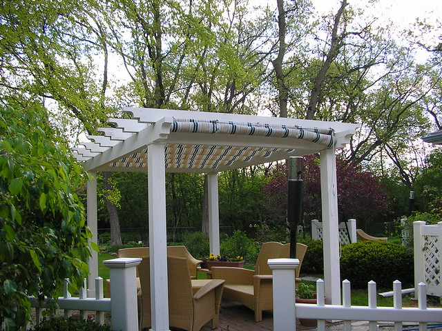 Pergola with Shade Screen Cover and Rolldown Curtain | Flickr - Photo ...