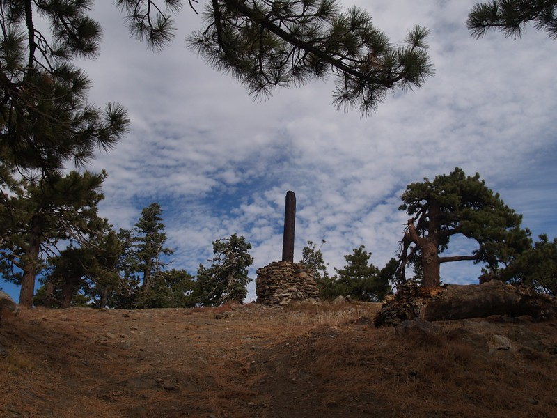 The remains of an old cabin on the very top of Santa Rosa Mountain