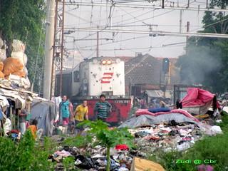 Slums area in Jakarta