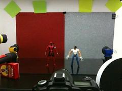 Deadpool vs. Wolverine Setup