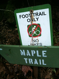 "Forest Park ""No Bikes"" signs-2"