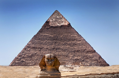 Pyramid of Khafre and the Great Sphinx of Giza