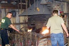 forge, person, blacksmith,