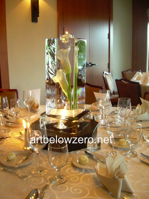 Calla lilli column centerpiece ice sculpture flickr