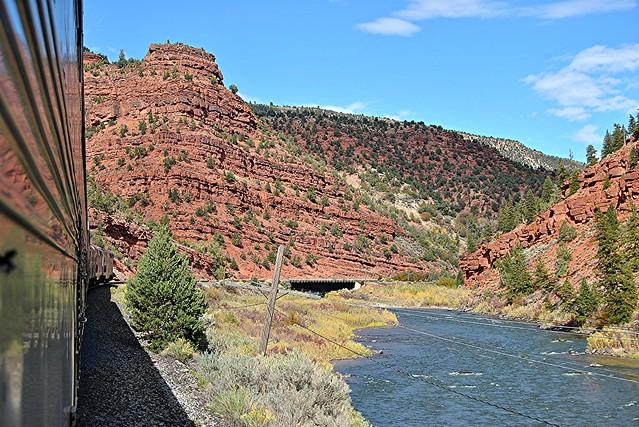 California Zephyr In Red Canyon Colorado