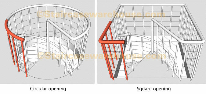 Genial Kloe Landing Balustrade Kit Arke Spiral Stair