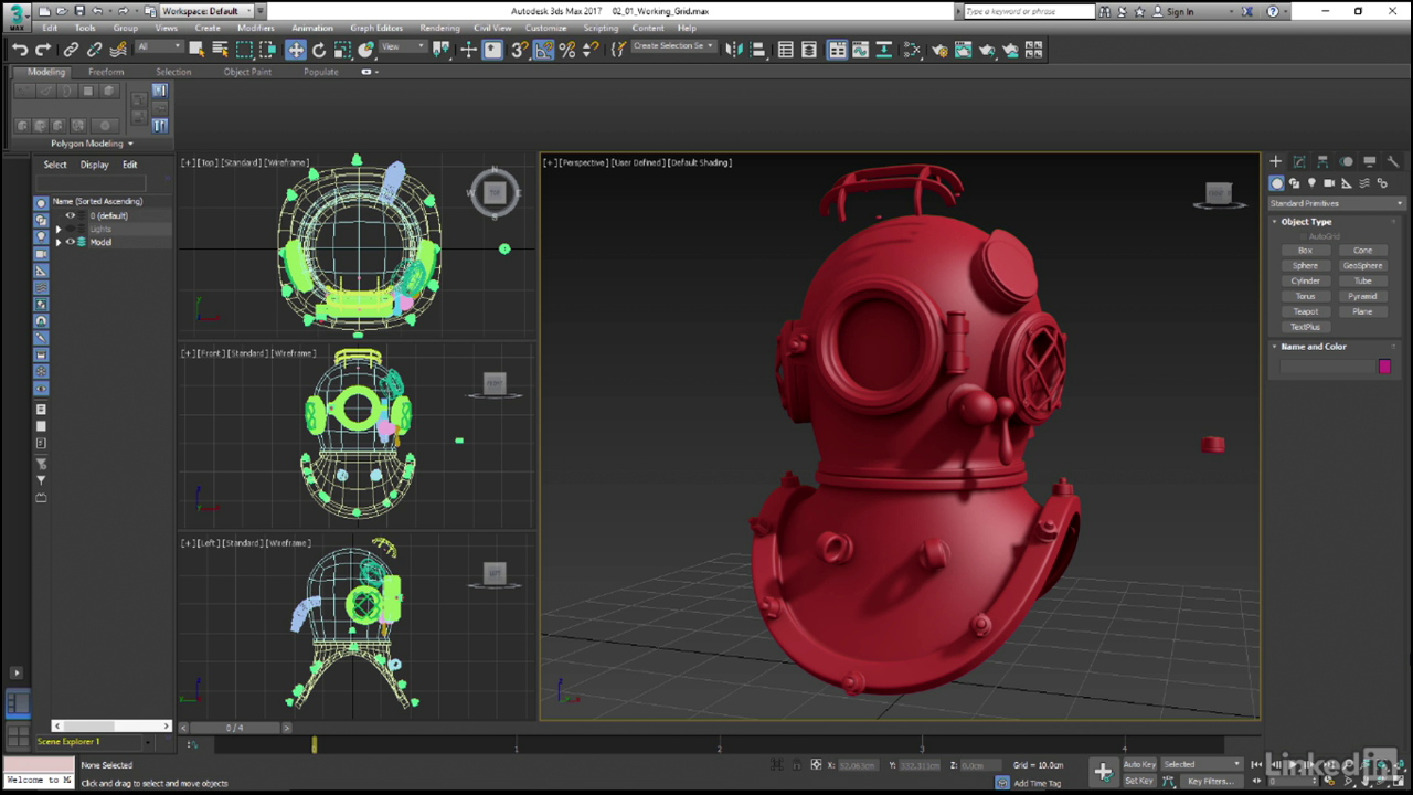 learning 3dsmax hard surface modeling by videos